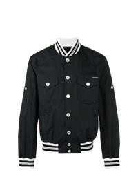 Veste universitaire noire et blanche Dolce & Gabbana
