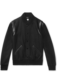 Veste universitaire noire Saint Laurent
