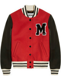 Veste universitaire rouge Moschino